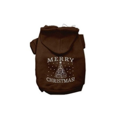 Mirage Pet Products Shimmer Christmas Tree Pet Hoodies Brown Size XXXL (20)