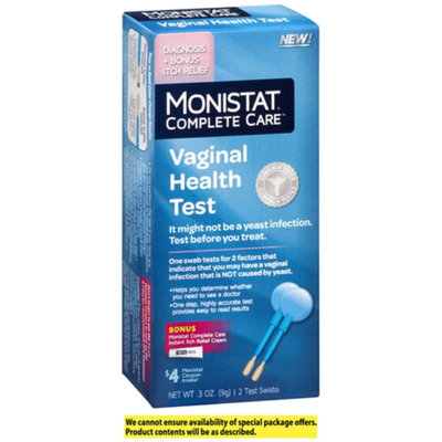 Monistat Complete Care Vaginal Health Test + Itch Relief, 2 ea