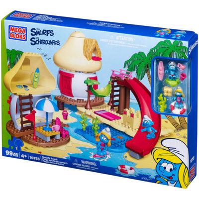 Mega Bloks Smurfs Smurf's Beach Play Set