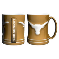 NCAA Texas Longhorns Boelter Brands 2 Pack Sculpted Relief Style Coffee