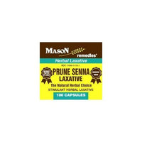 Mason Vitamins Mason remedies prune senna stimulant herbal laxative capsules - 100 ea