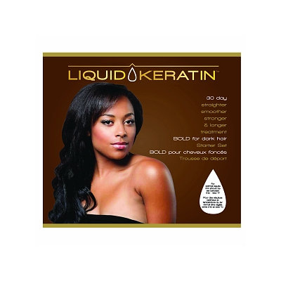 Liquid Keratin 30 Day Straighter Smoother Stronger Bold for Dark Hair Treatment Set