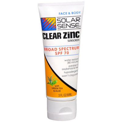 Solar Sense Clear Zinc Lotion for Body & Face