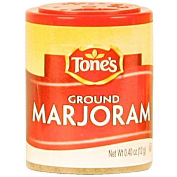 Tone's Mini's Marjoram, Ground, 0.40-Ounce