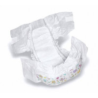 Medline Dry Time Disposable Baby Diapers Case of 144 Fits 30-38 lbs