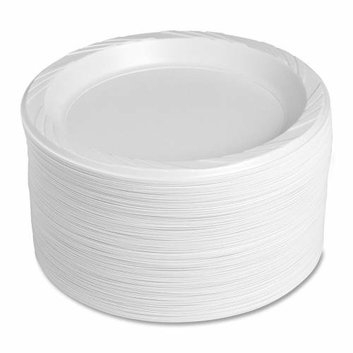 Genuine Joe 10329 9-Inch Plastic Round Plates -125-Pack