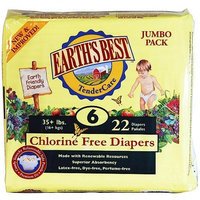 Earth's Best Baby Foods Earths Best, Diaper Stg6 35LB+, 22 PC (Pack of 4)