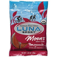 Luna Sport Moons Energy Chews Pomegranate, 1.05-Ounce Packages (Pack of 12)