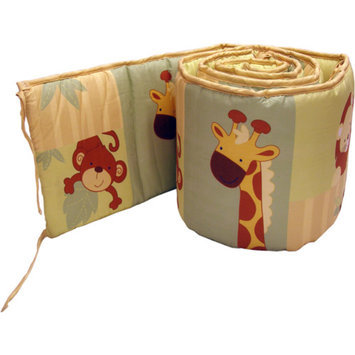 Little Bedding by NoJo - Safari Kids Crib Bumper