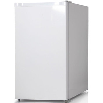 Keystone Energy Star 4.4 Cu. Ft. Compact Single-Door Refrigerator with Freezer Compartment, White, KSTRC44CW