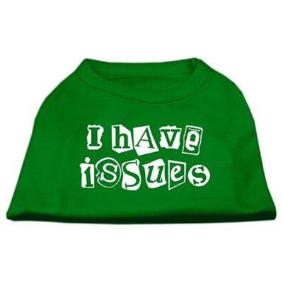 Ahi I Have Issues Screen Printed Dog Shirt Emerald Green XS (8)