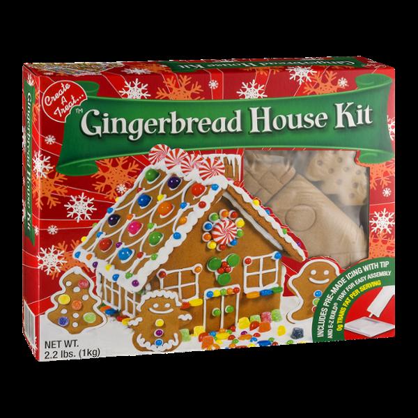 Christmas Gingerbread House Kit.E Z Build Gingerbread House Kit