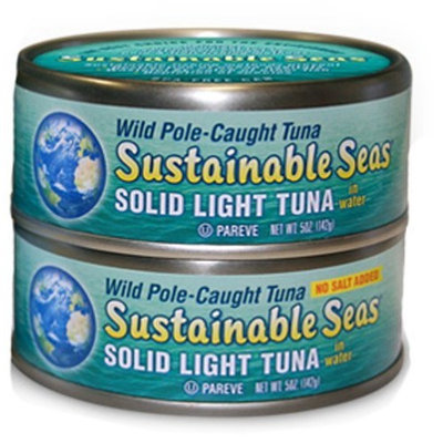 Sustainable Seas Slipjack Light Tuna in Water with No Salt Added, 5-Ounce (Pack of 6)