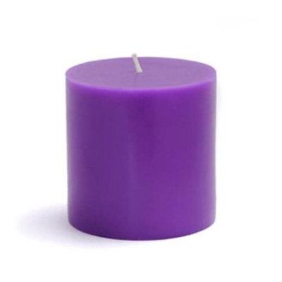 Zest Candle CPZ-080-12 3 x 3 in. Purple Pillar Candles -12pcs-Case- Bulk