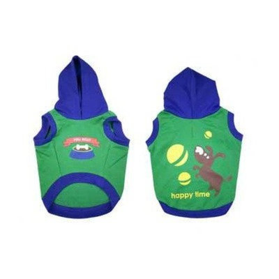 Waghearted DWG30342 Happy Time Pet Hoodie, Large, Green