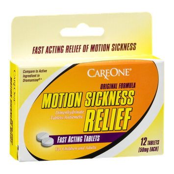 CareOne Motion Sickness Relief Tablets Original Formula - 12 CT
