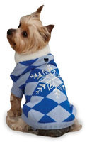 East Side Collection Snowflake SnuGuardian Gearler Sweater Blue, X