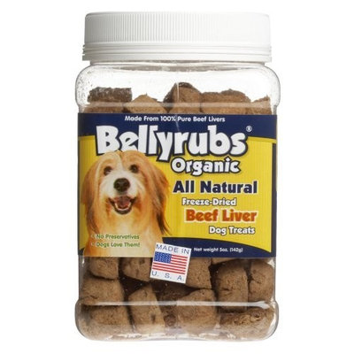 Bellyrubs Organic All Natural 5-Ounce Freeze-Dried Dog Treats, Beef and Liver Flavor