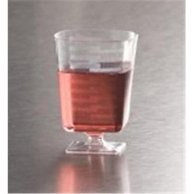EMI Yoshi EMI-SPWG2 Squares Pedestal Wine Glass 2 oz - Clear