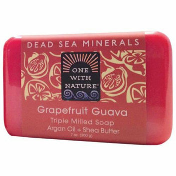 One With Nature Triple Milled Soap Bar Grapefruit Guava 7 oz