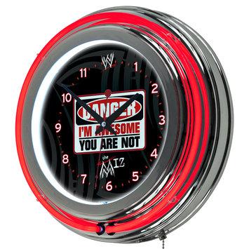 Trademark Global WWE The Miz Neon Clock, 14