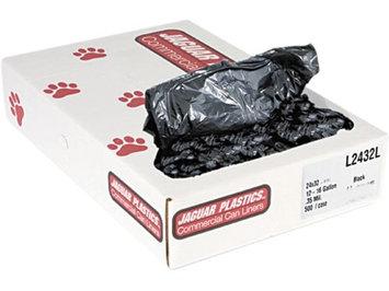 Jaguar Plastics Low-Density Can Liners, 15 gal, .35mil, Black