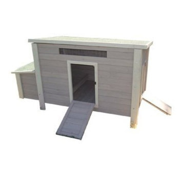 Precision Pet Backyard Barn Chicken Coop in Taupe & Off-White