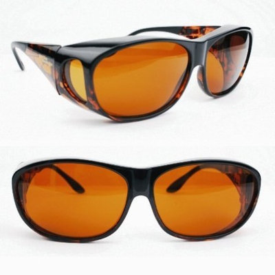 Unknown Eschenbach Solar Shields Sun Glasses Large Amber Filter