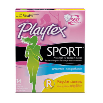 Playtex Sport Regular Unscented 14ct Tampons