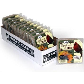 Heath Outdoor Products DD-16 Sunflower/Cherry Suet Cake, Case of 12