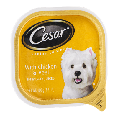 Cesar Canine Cuisine with Chicken & Veal
