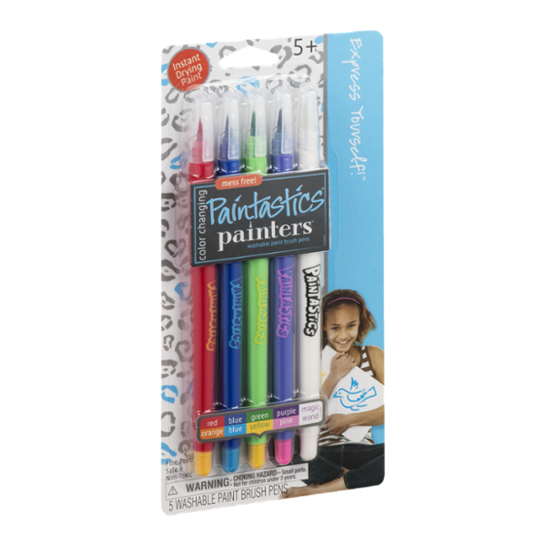 Painters Paintastics Washable Paint Brush Pens Color Changing - 5 CT