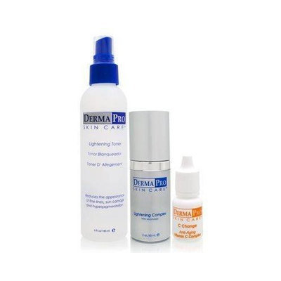 Derma Pro Triple Lightening System 3 Piece Set - For All Skin Types