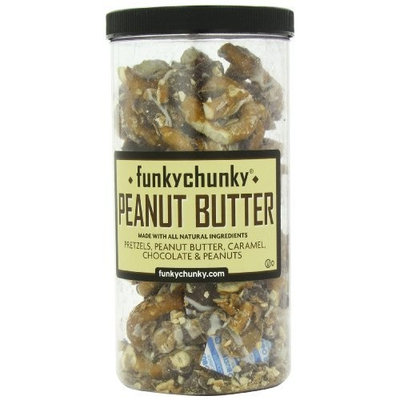 FunkyChunky Peanut Butter Pretzels Tall Canister, 20-Ounce (Pack of 2)