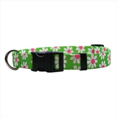 Yellow Dog Design GD102M Green Daisy Standard Collar - Medium