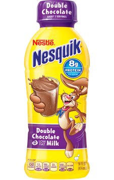 Nestle Nesquik Double Chocolate Flavored Low Fat Milk Plastic Bottle