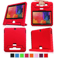 Fintie Shock Proof Convertible Handle Stand Kids Friendly for Samsung Tab 3 10-Inch And Tab 4 10-Inch Tablet, Red
