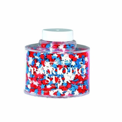 Dean Jacob's Dean Jacobs Patriotic Stars Stacking Jar, 2.8-Ounce (Pack of 6)