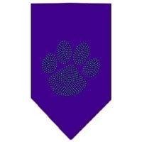 Ahi Paw Green Rhinestone Bandana Purple Small