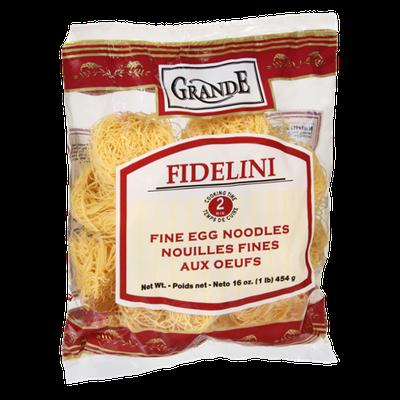 Grande Fidelini Fine Egg Noodles