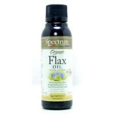 Spectrum Essentials Flax Oil Organic Lemon 8 oz ( Multi-Pack)
