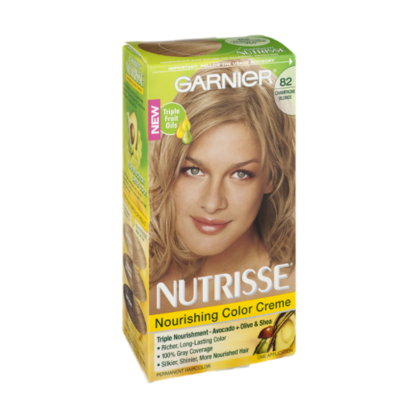 Garnier Nutrisse 82 Champagne Blonde Nourishing Color Creme Permanent Haircolor