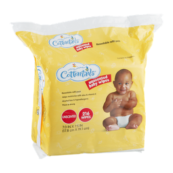 Cottontails Unscented Baby Wipes - 216 CT