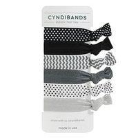 Cyndibands CyndiBands Set of 6 Print and Solid Hair Ties, Lark, 1 ea