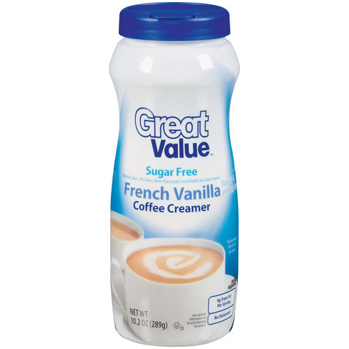 Great Value Sugar Free French Vanilla Coffee Creamer, 10.2 oz
