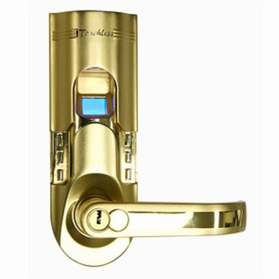 iTouchless Bio-Matic Fingerprint Door Lock, right, Gold, 1 ea