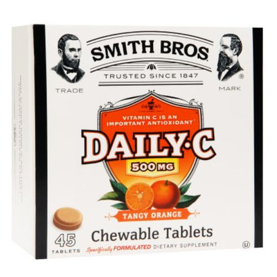 Smith Bros. Daily C 500mg Chewable Tablets, Tangy Orange, 45 ea
