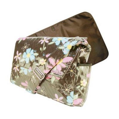 Trend Lab Messenger Diaper Bag - Blossoms by Lab