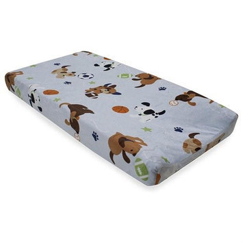 Lambs & Ivy Bedtime Lambs & Ivy Bow Wow Buddies Changing Pad Cover