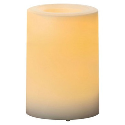 Northern International Inc. Outdoor Plastic Candle White 3x4